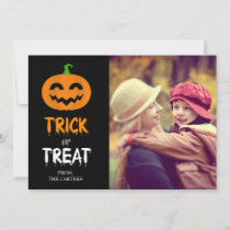 Happy Halloween Jack o'lantern Pumpkin Photocard Holiday Card