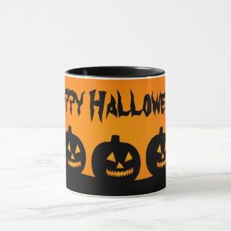 Happy Halloween Jack O'Lantern Pumpkins Mug
