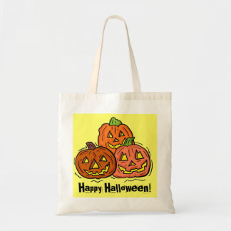 Happy Halloween jackolantern treat tote bag