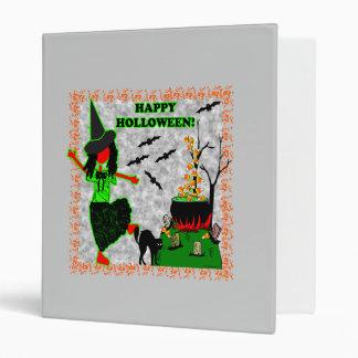 Happy Halloween Joyful Design 3 Ring Binder