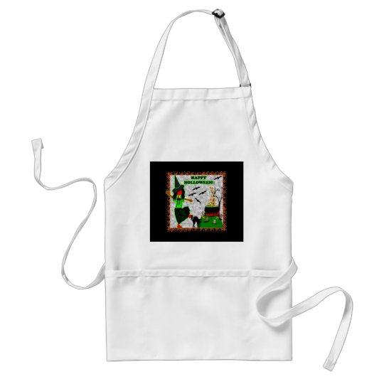 Happy Halloween Joyful Design Adult Apron
