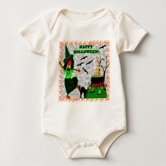 Happy Halloween Joyful Design Baby Bodysuit