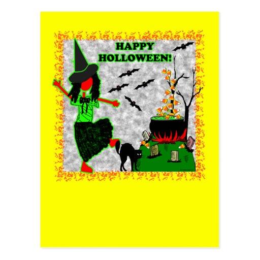 Happy Halloween Joyful Design Postcard