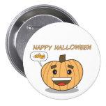 Happy Halloween Kawaii Pumpkin - Button