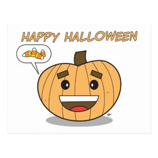 Happy Halloween Kawaii Pumpkin - Postcard