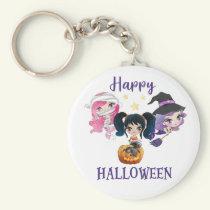 Happy Halloween keychain Creepy Mermaid keychain
