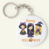 Happy Halloween keychain Creepy Princess keychain