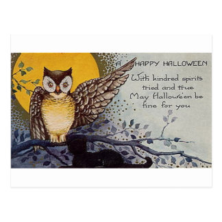 Happy Halloween Kindred Spirits Postcard