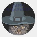 HAPPY HALLOWEEN Kitty Cat Stickers