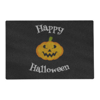 Happy Halloween Knit Laminated Place Mat