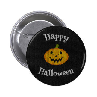 Happy Halloween Knit Pinback Button