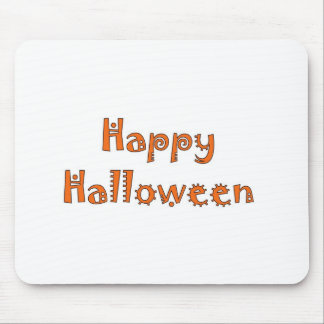 Happy Halloween- Kooky Orange & White Mousepad