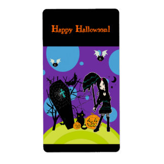 Happy Halloween Labels