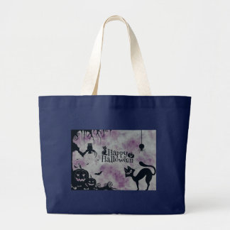 Happy Halloween Large Tote Bag