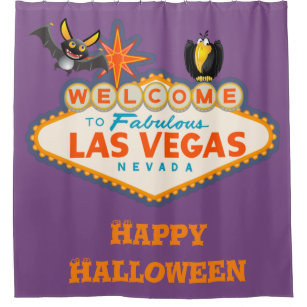Happy Halloween Las Vegas Style Shower Curtain