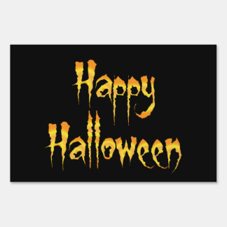 Happy Halloween Lawn Sign