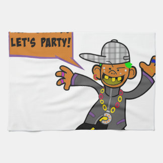 Happy Halloween Let's Party Hand Towel