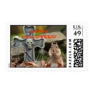Happy Halloween Little Chipmunk  Postage