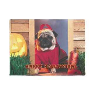 Happy Halloween Little Devil Pug Doormat