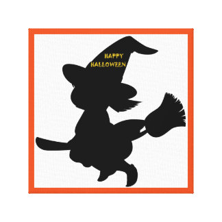 """HAPPY HALLOWEEN"" LITTLE WITCH CANVAS PRINT"