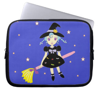 Happy Halloween Little Witch Girl Laptop Sleeve