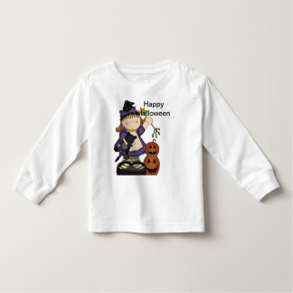 Happy Halloween Little Witch Long Sleeve Toddler T-shirt