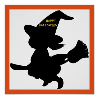 """HAPPY HALLOWEEN"" LITTLE WITCH POSTER"