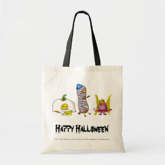 Happy Halloween Lunchbox Bunch Characters Budget Tote Bag