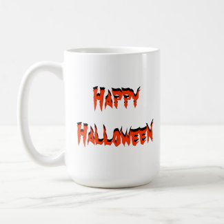 Happy Halloween Lwood Bat Mug