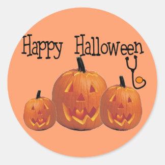 Happy Halloween MEDICAL T-shirts Classic Round Sticker
