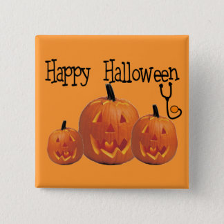 Happy Halloween MEDICAL T-shirts Pinback Button