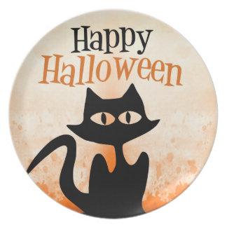 Happy Halloween Melamine Plate