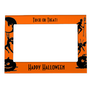 Happy Halloween Memories Fridge Magnet Photo Frame