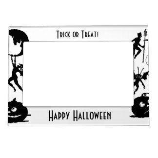 Happy Halloween Memories Fridge Magnet Photo Frame