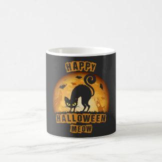 happy halloween meow coffee mug