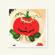 Happy Halloween Merry Pumpkin Holiday Paper Napkin