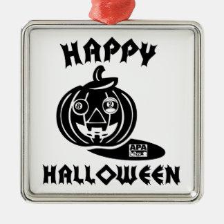 Happy Halloween Metal Ornament
