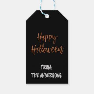 Happy Halloween Modern Halloween Gift Label