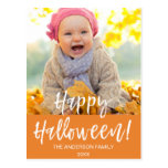 Happy Halloween Modern Halloween Photo Card