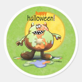 Happy Halloween Monster Classic Round Sticker