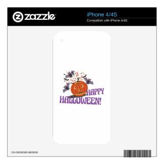 Happy Halloween Motif iPhone 4 Skins