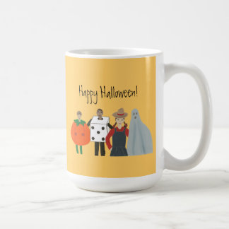 Happy Halloween Mugs, Pumpkin Dice Cowgirl Ghost Coffee Mug