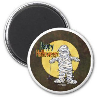Happy Halloween Mummy 2 Inch Round Magnet