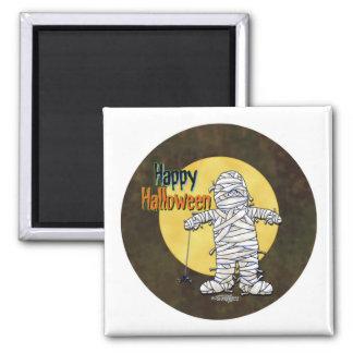 Happy Halloween Mummy 2 Inch Square Magnet