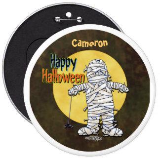 Happy Halloween Mummy Button
