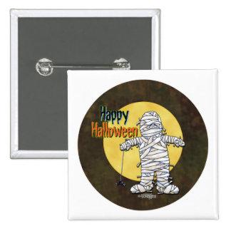 Happy Halloween Mummy Buttons