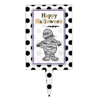 Happy Halloween Mummy Cake Picks