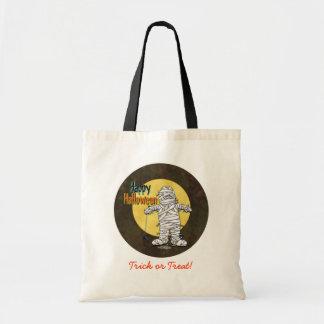 Happy Halloween Mummy Canvas Bag
