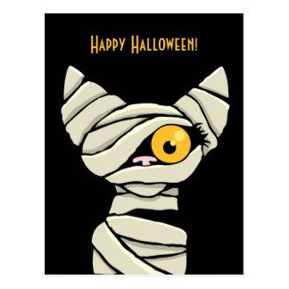 Happy Halloween Mummy Cat Postcards