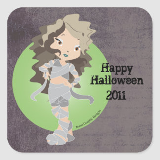 Happy Halloween Mummy Chibi Sticker